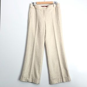 J. Crew Wide Leg Holiday Trousers Size 8